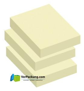 Haftnotizen 50 x 40 mm gelb blanko - 3er Pack