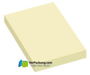 Haftnotizen 50 x 75 mm gelb blanko