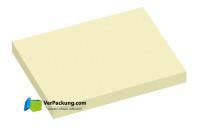 Haftnotizen 100 x 75 mm gelb blanko