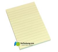 Haftnotizen 100 x 150 mm gelb liniert