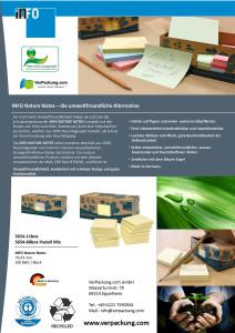 Recycling Haftnotizen 75 x 75 mm pastellmix blanko