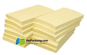 Recycling Haftnotizen 125 x 75 mm gelb blanko