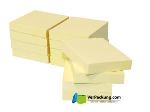 Recycling Haftnotizen 50 x 40 mm gelb blanko