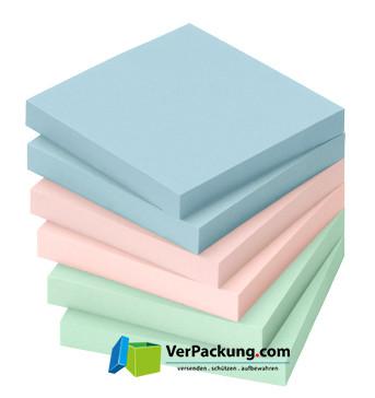 Haftnotizen 75 x 75 mm pastellmix blanko 6erPack