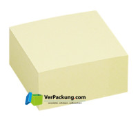 Haftnotizwürfel 75 x 75 mm gelb blanko