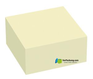 Haftnotizwürfel 50 x 50 mm gelb blanko