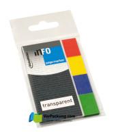 Page Marker 20 x 50 mm Transparent mit Farbrand 4er Umschlag