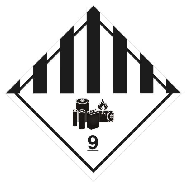 "Gefahrgutetikett - ""9A"" - 100 x 100 mm Papier"