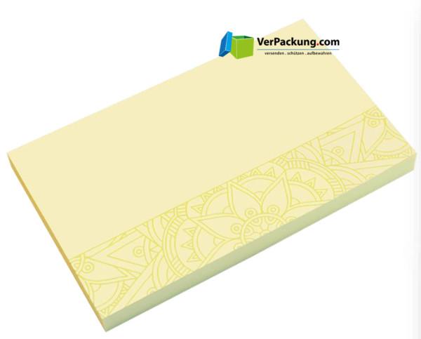 Haftnotizen 125 x 75 mm gelb Mandala