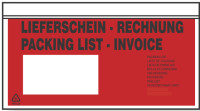 Lieferscheintaschen - Begleitpapiertaschen - Dokumententaschen C6 - 250 Stück im Dispenser