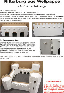 Ritterburg Pappenberg mit 4 Türmen