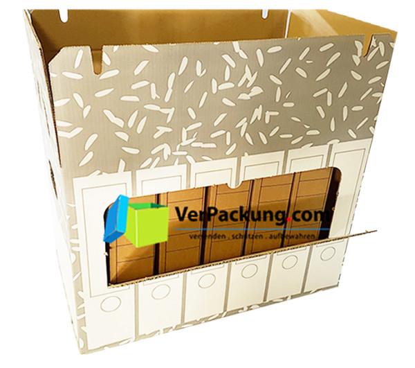 Ordnerarchivkarton grau für 6 Ordner