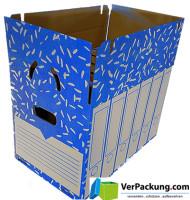 Ordnerarchivkarton blau für 6 Ordner