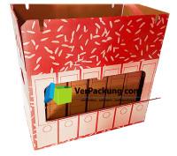 Ordnerarchivkarton rot für 6 Ordner