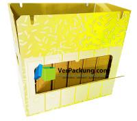 Ordnerarchivkarton gelb für 6 Ordner