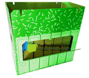 Ordnerarchivkarton grün für 6 Ordner