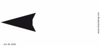 Bedruckte Haftnotiz - Pfeil nach links weiß/schwarz