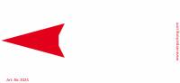Bedruckte Haftnotiz - Pfeil nach links weiß/rot