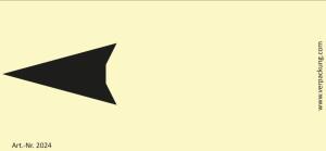 Bedruckte Haftnotiz - Pfeil nach links gelb/schwarz