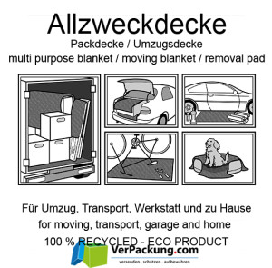 Allzweckdecke / Möbeldecke / Umzugsdecke / Packdecke