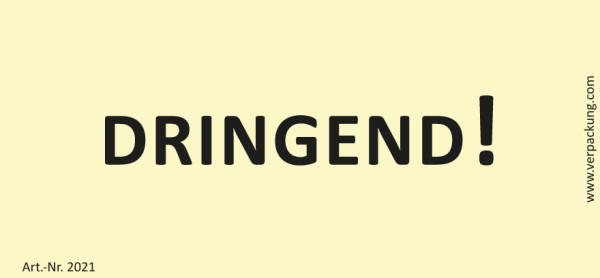 Bedruckte Haftnotiz - Dringend! gelb/schwarz