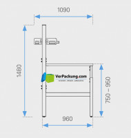 Komplett-Packtisch niedrig 1.600 x 900 mm