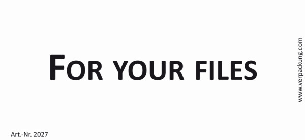 Bedruckte Haftnotiz - For your files weiß/schwarz