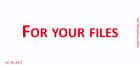 Bedruckte Haftnotiz - For your files weiß/rot