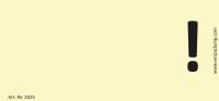 Bedruckte Haftnotiz - Ausrufezeichen gelb/schwarz