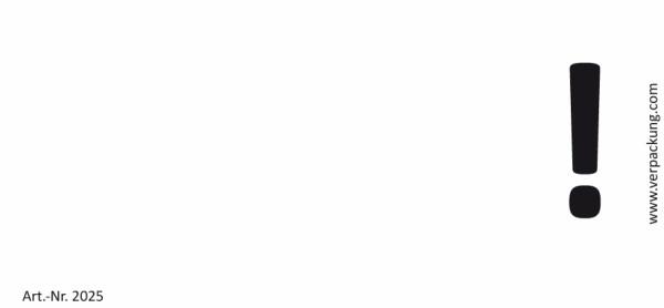 Bedruckte Haftnotiz - Ausrufezeichen weiß/schwarz