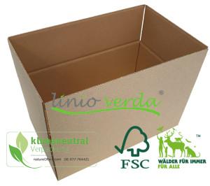 Faltkarton 220 x 160 x 100 mm - linio verda®