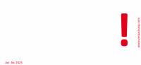 Bedruckte Haftnotiz - Ausrufezeichen weiß/rot