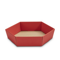 Geschenkkorb sechseckig klein Rubin Rot