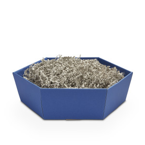 Geschenkkorb sechseckig klein Saphir Blau