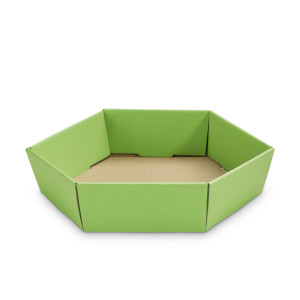 Geschenkkorb sechseckig klein Apfel Grün