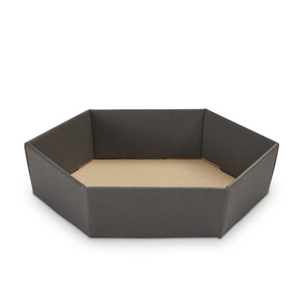 Geschenkkorb sechseckig klein Schwarz