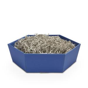 Geschenkkorb sechseckig mittel Saphir Blau