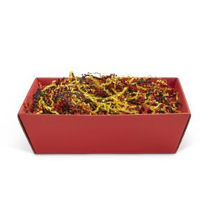 Geschenkkorb viereckig mittel Rubin Rot
