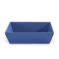 Geschenkkorb viereckig mittel Saphir Blau