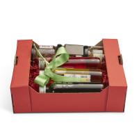 Geschenkkorb Obstkiste klein Rubin Rot