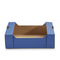 Geschenkkorb Obstkiste klein Saphir Blau
