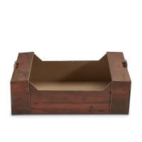 Geschenkkorb Obstkiste klein Holzdekor