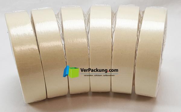Abdeckband Papier - 25 mm x 50 lfm hellgelb