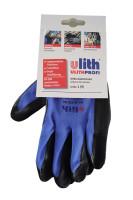 ulith-Nitril-Feinstrick blau/schwarz
