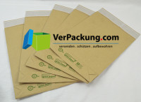 Versandtasche aus Graspapier 260 x 410 + 70 mm