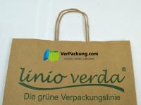 linio verda® Graspapiertragetasche Größe M - 320 + 140 x 410 mm