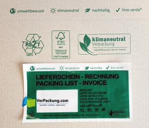 linio verda® Lieferscheintaschen -...