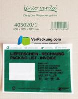 linio verda® Lieferscheintaschen - Begleitpapiertaschen - Dokumententaschen C5 - 1000 Stück - Papierversion