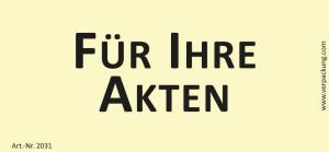 Bedruckte Haftnotiz - Für Ihre Akten gelb/schwarz