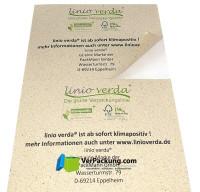 linio verda® Etiketten aus Graspapier - Größe Din A5